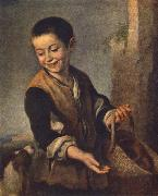MURILLO, Bartolome Esteban Boy with a Dog sgh oil