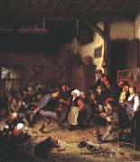 OSTADE, Adriaen Jansz. van Merrymakers in an Inn ag oil painting picture wholesale