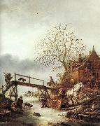 OSTADE, Isaack van A Winter Scene  ag oil painting picture wholesale