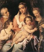 PASSEROTTI, Bartolomeo Holy Family with the Infant St John the Baptist and St Catherine of Alexandria f oil painting picture wholesale