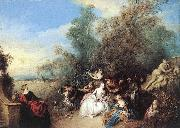 PATER, Jean Baptiste Joseph Relaxing in the Country sg oil painting artist