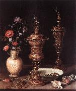 PEETERS, Clara Still-Life with Flowers and Goblets a oil painting artist