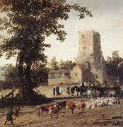 POST, Pieter Jansz Italianate Landscape with the Parting of Jacob and Laban zg oil painting picture wholesale