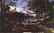 POUSSIN, Nicolas Landscape with a Man Killed by a Snake af oil painting picture wholesale