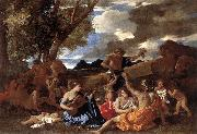 POUSSIN, Nicolas Bacchanal: the Andrians af oil painting artist