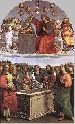 RAFFAELLO Sanzio The Crowning of the Virgin (Oddi altar) oil painting artist