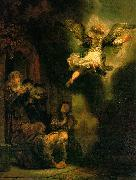 REMBRANDT Harmenszoon van Rijn The Archangel Leaving the Family of Tobias oil painting picture wholesale