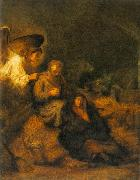 REMBRANDT Harmenszoon van Rijn The Dream of St Joseph ds oil painting picture wholesale