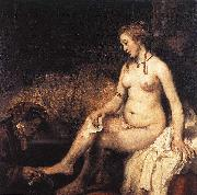 REMBRANDT Harmenszoon van Rijn Bathsheba at Her Bath f oil painting picture wholesale