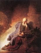 REMBRANDT Harmenszoon van Rijn Jeremiah Lamenting the Destruction of Jerusalem g oil painting picture wholesale