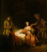 REMBRANDT Harmenszoon van Rijn Joseph Accused by Potiphar's Wife oil painting picture wholesale
