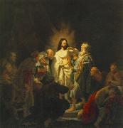 REMBRANDT Harmenszoon van Rijn The Incredulity of St Thomas sg oil painting picture wholesale