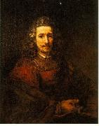 REMBRANDT Harmenszoon van Rijn Man with a Magnifying Glass du oil painting picture wholesale