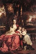 REYNOLDS, Sir Joshua Lady Elizabeth Delm and her Children oil painting artist
