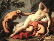 RICCI, Sebastiano Venus and Satyr sg oil painting picture wholesale