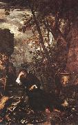 ROSA, Salvator Democritus in Meditation af oil painting picture wholesale