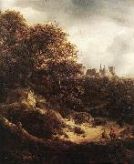 RUISDAEL, Jacob Isaackszon van The Castle at Bentheim d oil painting picture wholesale