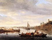 RUYSDAEL, Salomon van The Crossing at Nimwegen af oil painting picture wholesale