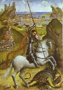 Rogier van der Weyden St. George and Dragon oil painting artist
