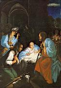 SARACENI, Carlo The Birth of Christ  f oil painting artist