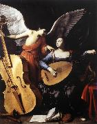 SARACENI, Carlo Saint Cecilia and the Angel sd oil painting artist