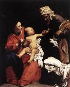 SARACENI, Carlo Madonna and Child with St Anne dt oil painting artist