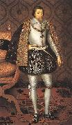 SOMER, Paulus van King James I of England r oil painting artist