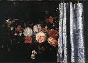 SPELT, Adrian van der Flower Still-Life with Curtain  uig oil painting picture wholesale