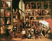 TENIERS, David the Younger The Gallery of Archduke Leopold in Brussels at oil painting picture wholesale