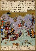 Ali She Nawat Alexander defeats Darius,an allegory of Shah Tahmasp-s defeat of the Uzbeks in 1526 oil painting artist