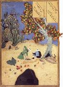 Bihzad The saintly Bishr fishes up the corpse of the blaspheming Malikha from the magic well which is the fount fo life oil painting picture wholesale