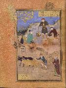 Bihzad A peasant lectures the sage Abu Sa Id ibn Abi l Khayr,the shaykh of Mahneh.on patience oil painting picture wholesale