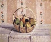 Camille Pissarro apples and pears in a round basket oil painting picture wholesale