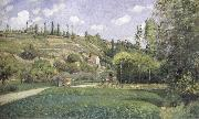 Camille Pissarro A cowherd on the route du Chou,Pontoise oil painting picture wholesale