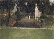 Fernand Khnopff The Garden in Famelettes oil painting picture wholesale