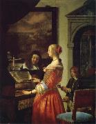 Frans van mieris the elder The Duet oil painting picture wholesale