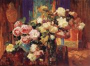 Franz Bischoff Roses n-d oil painting artist