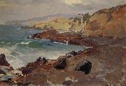 Franz Bischoff Untitled Coastal Seascape oil painting picture wholesale