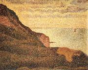 Georges Seurat Port-en-Bessin,Les Grues et la Percee oil painting picture wholesale