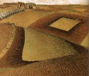 Grant Wood Break ground oil painting picture wholesale