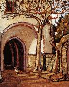 Grant Wood The Courtyard of Italy oil painting picture wholesale