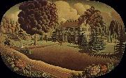 Grant Wood The Painting on the fireplace oil painting picture wholesale