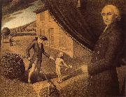 Grant Wood Fabrication oil painting picture wholesale
