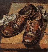 Grant Wood Old shoes oil painting picture wholesale