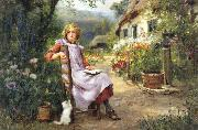 Henry John Yeend King In the Garden oil painting artist