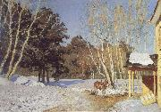 Isaac Levitan March oil painting