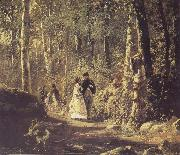Ivan Shishkin A Stroll in the Forest oil painting artist