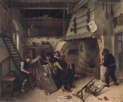 Jan Steen Card players quarrelling oil painting picture wholesale