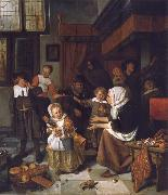 Jan Steen The Feast of St Nicholas oil painting picture wholesale