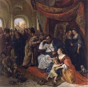 Jan Steen Moses trampling on Pharaob-s crown oil painting picture wholesale